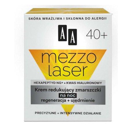 AA - Mezzolaser 40+ - KREM redukujący zmarszczki na NOC, 50 ml.