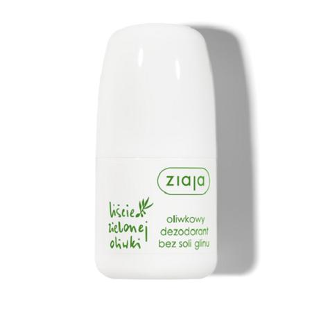 Ziaja - Liście Zielonej Oliwki, Oliwkowy Dezodorant bez Soli Glinu, 60 ml.