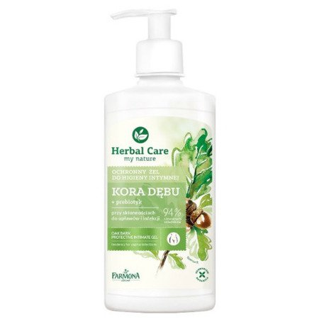 Herbal Care - kremowa emulsja do higieny intymnej, kora dębu 300 ml.