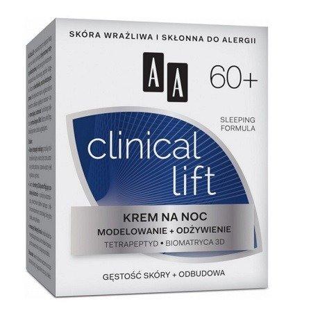 AA - Clinical Lift 60+ - KREM modelująco odżywczy na NOC, 50 ml.
