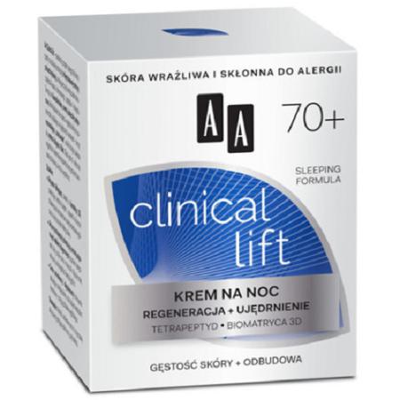 AA - Clinical Lift 70+ - KREM regenerująco-ujędrniający na NOC, 50 ml.