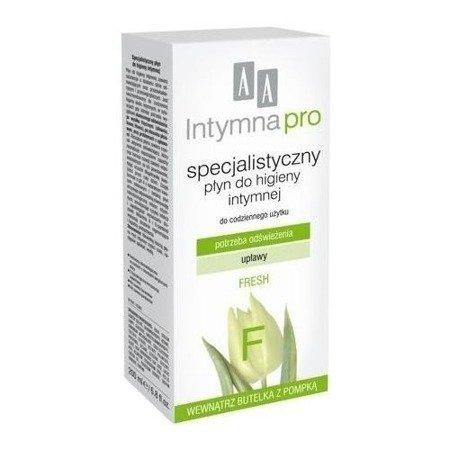 AA Intymna PRO - Specjalistyczna EMULSJA/PŁYNY do higieny intymnej dla kobiet, 200 ml. Fresh