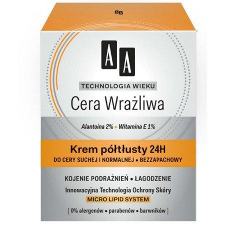 AA - Technologia Wieku, Cera Wrażliwa - KREM półtłusty na DZIEŃ i NOC, 50 ml.