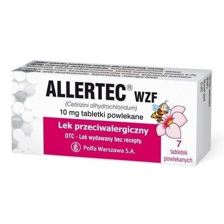 Allertec WZF 10 mg. - na objawy alergii, 7 tabletek.