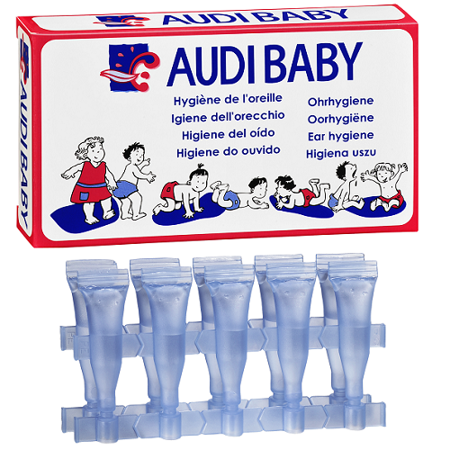 AudiBaby - w ampułkach dba o higienę uszu u dzieci, 10x1 ml.