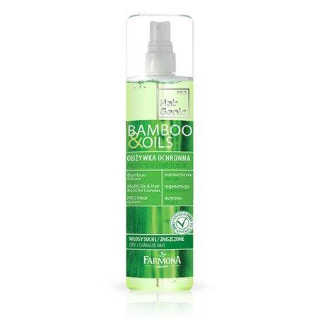 Bamboo & Oils - ODŻYWKA ochronna do włosów, 200 ml.