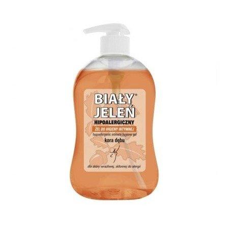 Biały Jeleń- ŻEL do higieny intymnej, kora dębu, 500 ml.