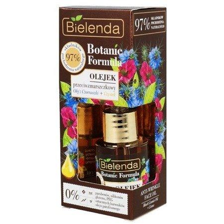 Bielenda Botanic Formula, Olej z Czarnuszki+Czystek, OLEJEK przeciwzmarszczkowy, 15 ml.