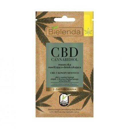 Bielenda CBD Cannabidiol, MASECZKA nawilżająco-detoksykująca, 8 g