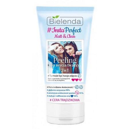 Bielenda - #Insta Perfect Matt & Clean, PEELING do mycia twarzy 3w1, 150 g.