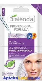 Bielenda - PEELING/MASECZKA drobnoziarnisty z efektem mikro-dermabrazji diamentowej, 2x5 g.
