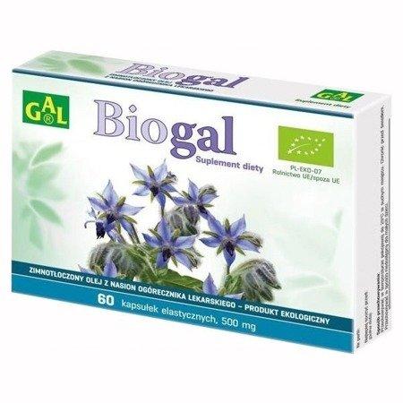 BioGAL - Zimno tłoczony olej z nasion ogórecznika lekarskiego 500 mg. 60 kapsułek.
