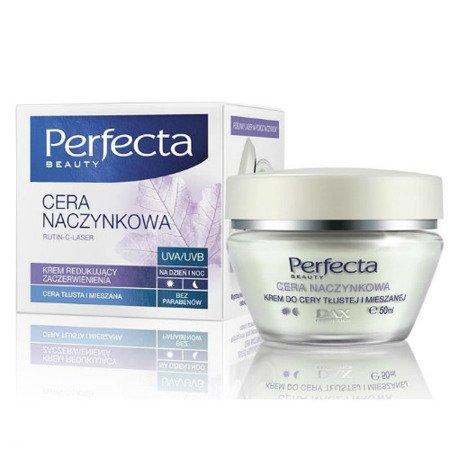 DAX - Perfecta, Cera Naczynkowa - KREM redukujący zaczerwienienia do cery tłustej i mieszanej na DZIEŃ i NOC, 50 ml.
