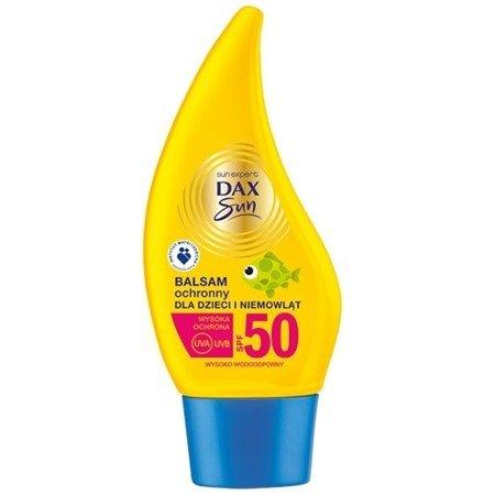 Dax - Sun - Wodoodporny BALSAM do opalania dla dzieci, nawilża i chroni skórę dzieci po 6 miesiącu życia, SPF-50, 150 ml.
