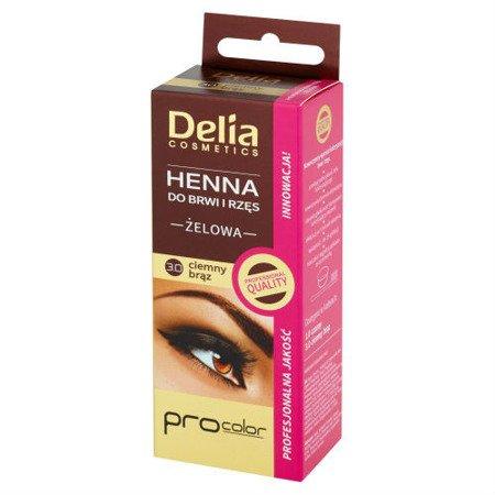 Delia - Profesjonalna żelowa HENNA do brwi BRĄZOWA, 15+15 ml.