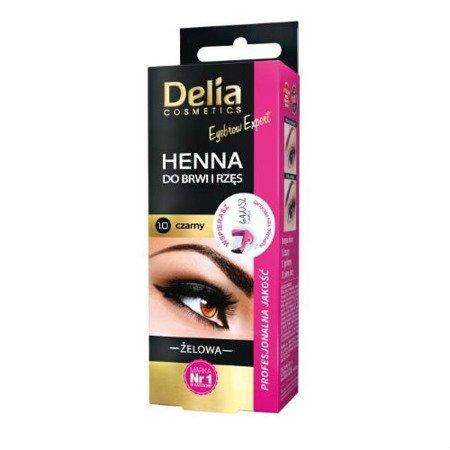 Delia - Profesjonalna żelowa HENNA do brwi CZARNA, 15+15 ml.