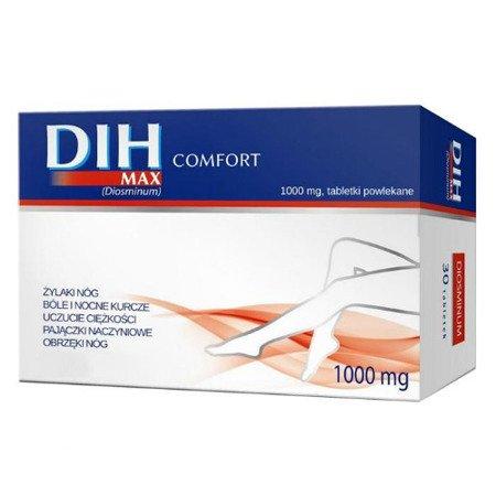Dih MAX Comfort - Diosmina 1000 mg. 60 tabletek.