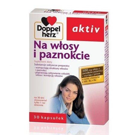 Doppelherz Aktiv - Na włosy i paznokcie, 30 kapsułek.