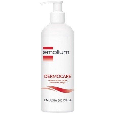 Emolium Dermocare - EMULSJA do ciała do cery suchej, bardzo suchej i wrażliwej dla niemowląt, dzieci i dorosłych, 400 ml.