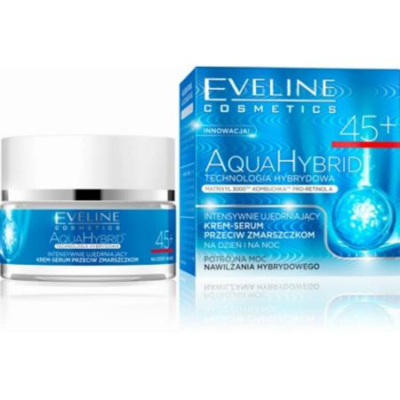 Eveline AquaHybrid 45+ - KREM przeciwzmarszczkowy i nawilżający na DZIEŃ i NOC, 50 ml.