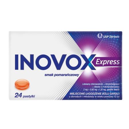 Inovox Express - Pomarańczowe, 24 pastylki do ssania.