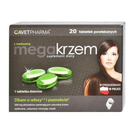 Mega Krzem z Metioniną, 20 tabletek.