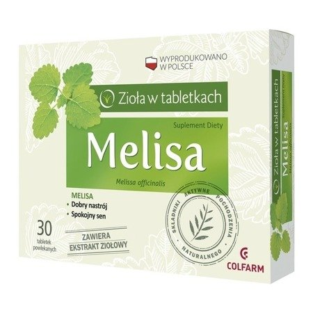 Melisa - ZIOŁA w tabletkach, 30 tabletek.(Colfarm)