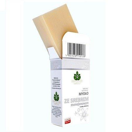 Mydło naturalne ze SREBREM mono jonowym i woda utlenioną, 100 g.