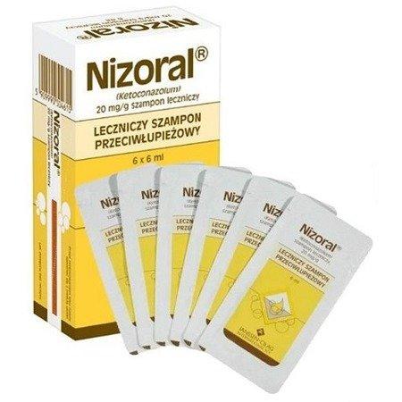 Nizoral - SZAMPON przeciwłupieżowy w saszetkach, 6 sztuk.