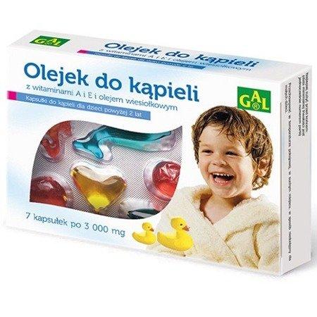 Olejek do kąpieli dla dzieci - OLEJEK wiesiołkowy z witaminami A i E, 7 kapsułek. GAL