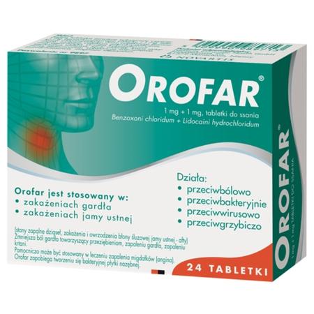 Orofar, 24 tabletki do ssania.