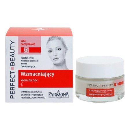 Perfect Beauty Anti Rednes - KREM wzmacniający na noc do skóry nadwrażliwej z pękającymi naczynkami, redukuje zaczerwienienia 50 ml.