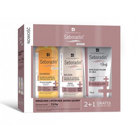 Seboradin - Sensitive - ZESTAW, 200+200+150 ml.