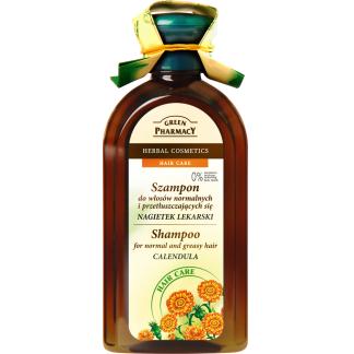 Szampon - Do włosów Normalnych i przetłuszczających się z Nagietkiem, 350 ml. Green Pharmacy.