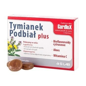 Tymianek i Podbiał PLUS - Gardlox , 24 pastylki do ssania.