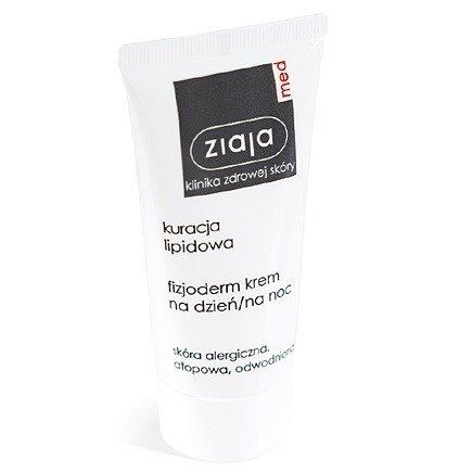 Ziaja MED - Kuracja lipidowa - Fizjoderm KREM na DZIEŃ i NOC do skóry atopowej, alergicznej i odwodnionej, 50 ml.