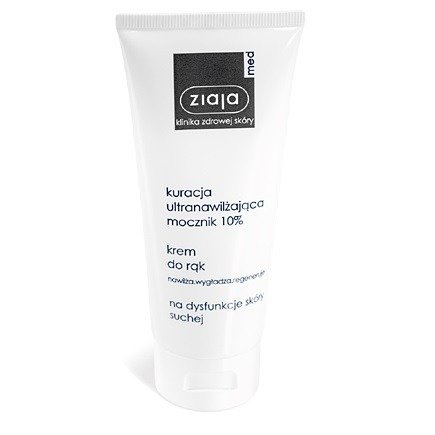 Ziaja MED - Kuracja ultra-nawilżająca mocznik 10% - KREM do rąk, 100 ml.