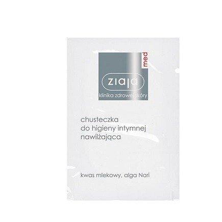 Ziaja Med - Higiena intymna - CHUSTECZKA do higieny intymnej nawilżająca z kwasem mlekowym, 10 szt.