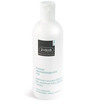 Ziaja Med - Kuracja Dermatologiczna AZS,  SZAMPON oczyszczający do do wrażliwej skóry głowy i karku, 300 ml.