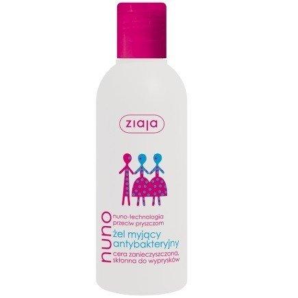 Ziaja - Nuno - ŻEL myjący, antybakteryjny do cery zanieczyszczonej i skłonnej do wyprysków, 200 ml.