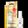 Eveline Nail Therapy Professional - ODŻYWKA do paznokci super-skoncentrowana z drobinkami złota, 8w1, 12 ml.